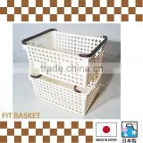 Stacking Japanese plastic storage boxes bins for wholesale