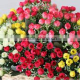 Wholesale decorative plastic flower pots,description rose flower,artificial flowers imported from china(AM-881444-1)