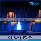 RGB color candle shape craft lamp, bar decorative led table desk lamp