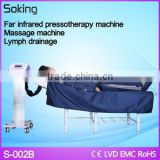 Best For Sale 2 in 1 far infrared lymphatic detox slimming body massage pressotherapy machine