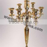 Gold Antique 5 Arm Candelabra for Weddings Used And 3 Arms Gold Candelabra Made In India
