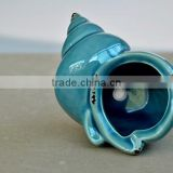 colorful porcelain flower pot fashion crafts conch shape
