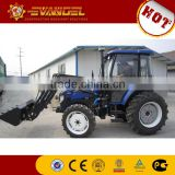 35HP wheel tractor with front loader and backhoe attachment