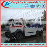 North Benz 6x4 large wrecker truck, heavy rescue trucks,heavy duty wrecker truck for sale