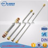"North American 12 inch toilet connector stainless steel braided hose 3/8"" Female Compression Thread x 7/8 Female Ballcock Thread"