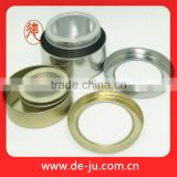 Top transparent PVC window round flat silver tin packing cans