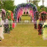 factory outdoor popular design handing plant fake uv proof artificial orchid handing vine EHM09