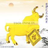 New design 24k Gold Plated Chinese Zodiac cow figurines