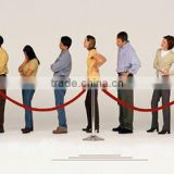 ticket window queue control barrier