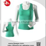 Womens polyester cotton yoga fitness singlet tank top