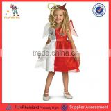 Cheap kids halloween angel devil dresses wing costumes PGCC3169