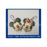 Mickey Mouse Animal Cool Soft PVC Keychain / Custom Soft Rubber Key Chains with LED Light