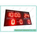 RED LED Electronic Scoreboard for Basketball Built-in 24 Shot Clock