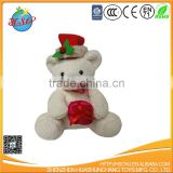 cute plush teddy bear toys wear in flower