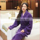 Wholesales Luxury Soft Coral Fleece Dressing Gown Bath robe