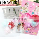 new arrival lace flower hair sticker hair accessory