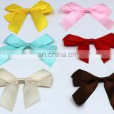 MIXED COLORS BOWKNOT WHOLESALES HIGH QUALITY PLOYSTER GARMENT ACCESSORIES DOUBLE SAIDED ADHESIVE BOWKNOT