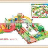 Hot sale kids railway train set toy