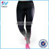 Yihao 2015 womens printed jogger pants custom compression tights fitness wear yoga leggings