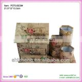 House shape face fold up paper box