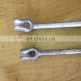 Ground Earth Hardware Thimble Eye Power Line Fitting Straight Power Anchor Rod