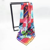 Good Quality Wholesale Custom Digital Print New Twill Silk Scarf
