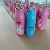 350ml 500ml 750ml stainless steel water bottle with personal logo printing MOQ 500pcs