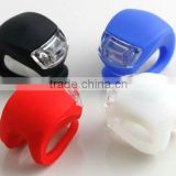 New Arrival Mini Colorful 2*LED Silicon Indication Tail Bike Light