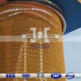 phosphor copper decorative wire mesh fabrics for lamp pole