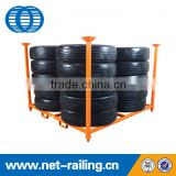 Customized stackable metal commercial tire rack