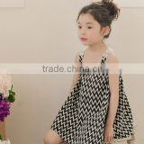 2016 latest korean style children clothes 4 year old baby girl hollow lace vest dress