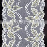 2016 new elastic mesh voile chopper bar bra lace and lace fabric