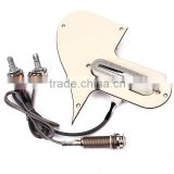 Creamy-white Mandolin Pickguard loaded reprlacement Scartch Plate Pickup Jack Pots Harness set