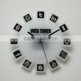 hot sale high quality model house interior decoration frosted acrylic wall clock with small silence