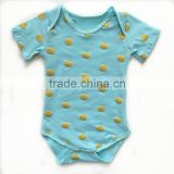 Factory direct sale organic cotton baby romper high quality infant romper wholesale baby clothes romper