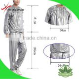 The clear plastic or PVC exercise sauna suit