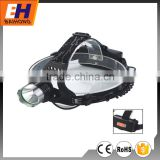 High Power LED Head Lamp Powered by 3xAAA Batteries and 1x18650 Rechargeable Battery, 300lm, 100% bright, 50% bright, Strobe