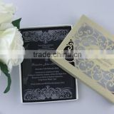 Charming clear acrylic wedding invitations with white silk screen printing & laser cut box