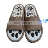 Natural Pebbles Massage Slipper Lady Health Foot Acupressure Shoes for Women Foot Reflexology Therapy