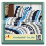 brushed 100% polyester bedsheet fabric with flora printing for home textile polyester fabric