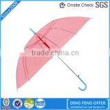 Wholesale one dollar promotion windproof transparent umbrella