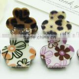 wholesale price adult brown plastic mini snap hair claw jaw hair clips