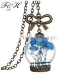 Aliexpress Latest Design Jewelry Wholesale Long Chain Necklace, Floating Glass Pendant Necklace