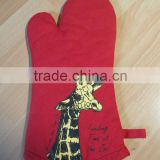 kitchen gloves,oven gloves ,cotton printed glove