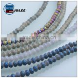 Frosted rondelle beads faceted beaded jewelry latest design beads necklace                                                                                                         Supplier's Choice