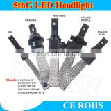 FANLESS LED Headlight with Flexible Tinned Copper Braid LED Headlight Kit - H4