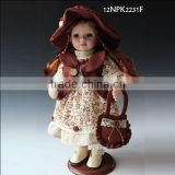 12inch collection girl country girl porcelain doll made in china