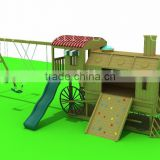 Mini Size Street Car Shape Wooden Outdoor Playground for Kids