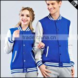 Newest style Men and women pure color sweethearts outfit baseball uniform cardigan add wool fleece jacket