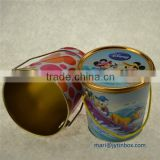 Delicate promotional popcorn packaging tin